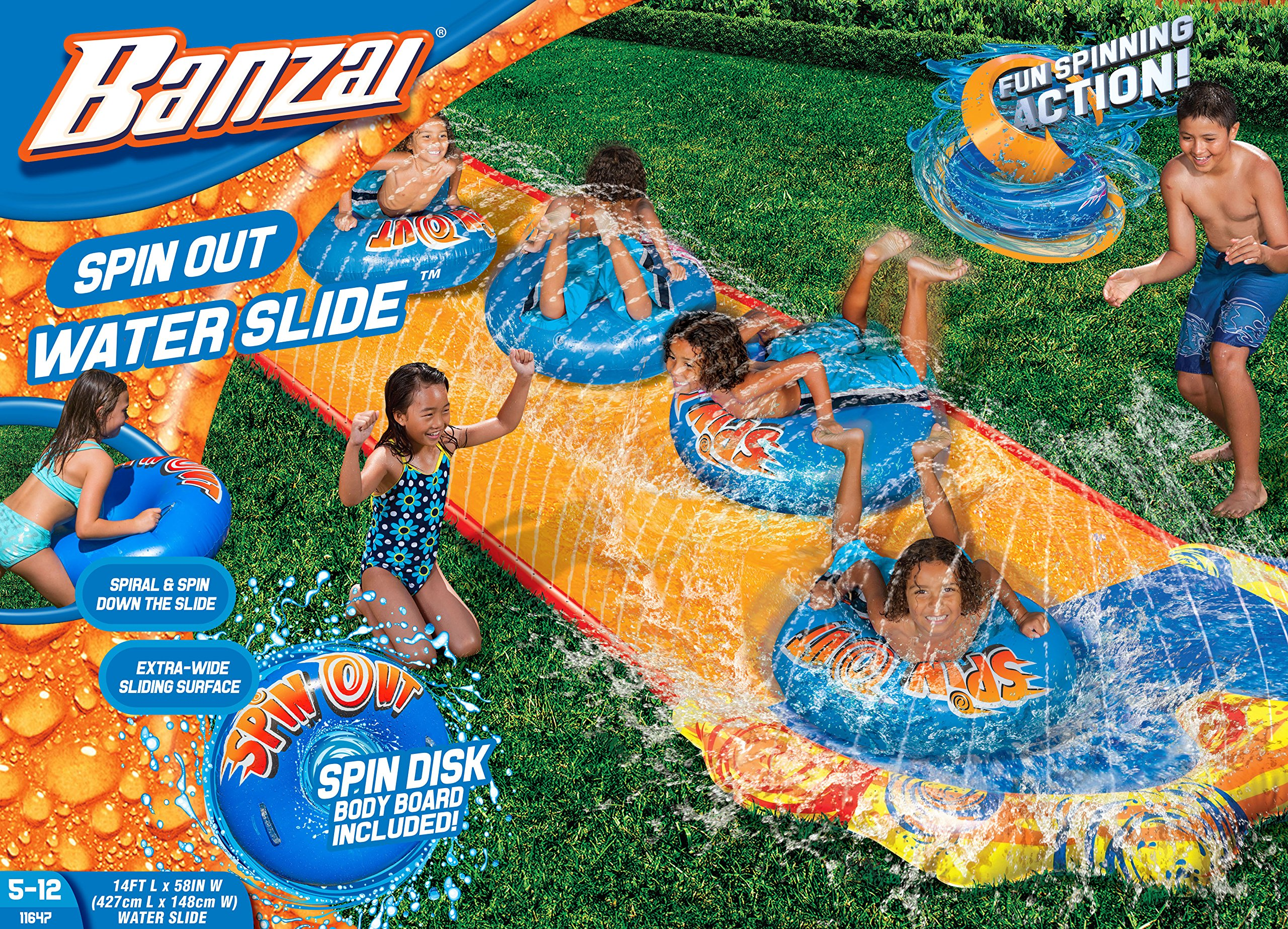 BANZAI Spin Out Slide with Spin Disk Bodyboard by BANZAI (Image #1)