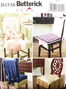 OOP Butterick Home Decor Pattern B4536. Chair Covers