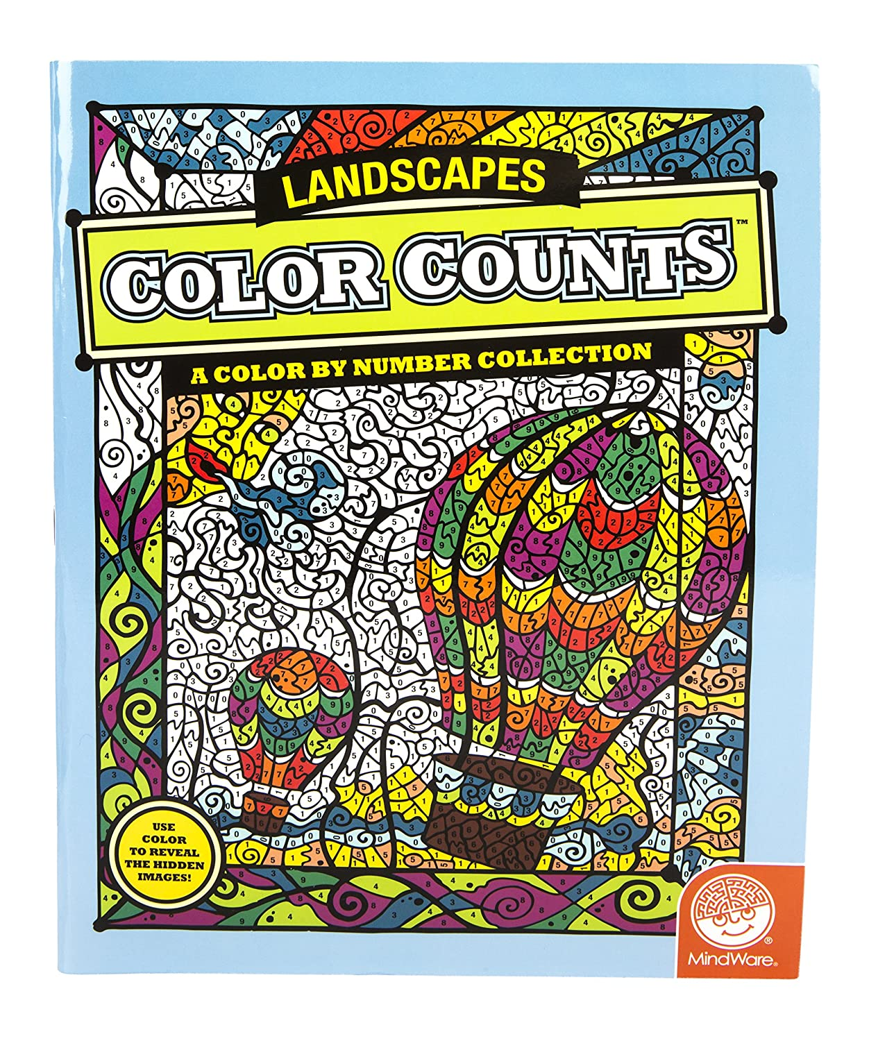 amazoncom color counts landscapes toys games - Mindware Coloring Books