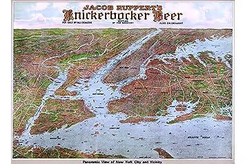 0910bd46a Amazon.com  History Prints Map of New York City by Knickerbocker ...