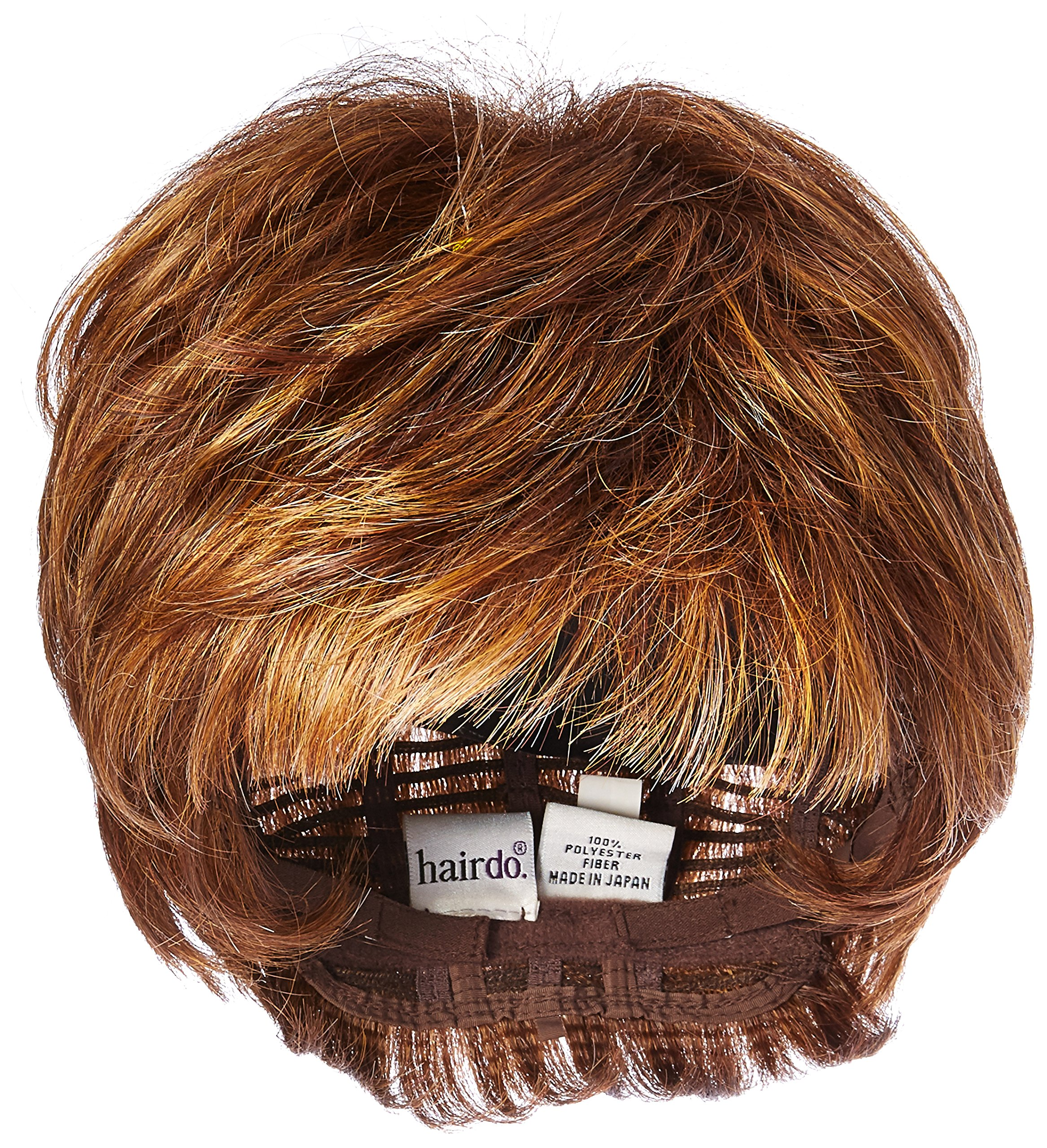 Textured Cut Wig  Color R3025S+ GLAZED CINNAMON - Hairdo Wigs Short Feathered Modern Tru2Life Heat Friendly Synthetic Wispy Bang by Hairdo
