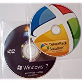 "Re INSTALL Repair Restore WINDOWS 7 ""PROFESSIONAL"" Edition 64 Bit PLUS AUTOMATED DRIVERS PACK DVD PC Laptop Computer DVD CD Disc Disk"