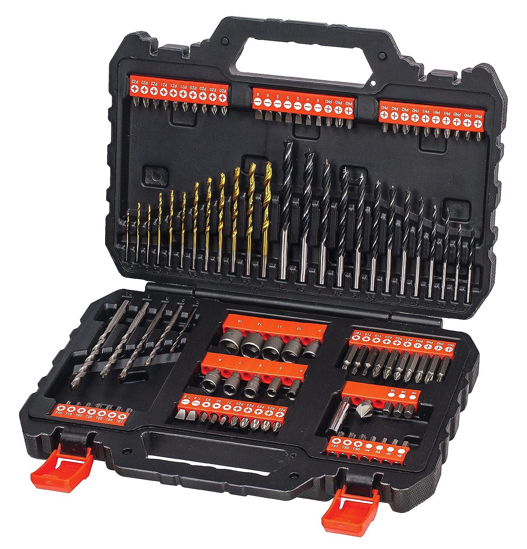 Black and Decker A Pack de piezas para atornillar y taladrar brocas