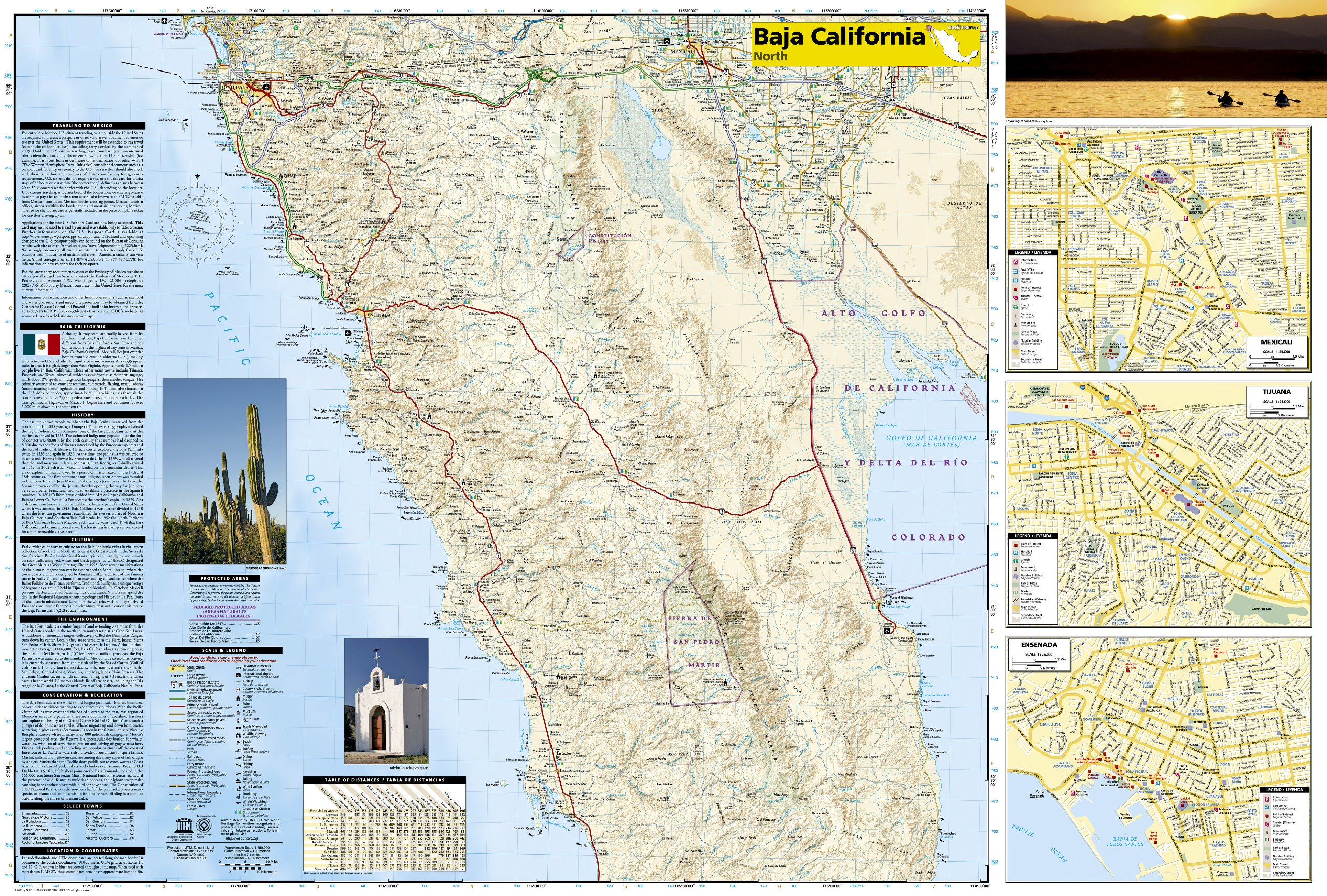 Baja California North Mexico Adventure Map National – Map of North Mexico