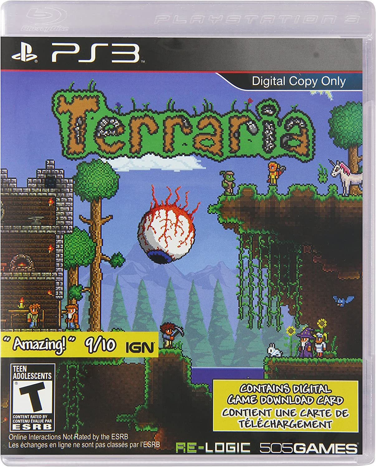 Amazon com: Terraria - PlayStation 3 (digital game download card