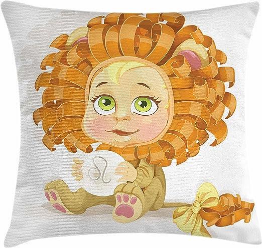 Zodiac Leo manta almohada Funda de cojín por lunarable, Colorful ...