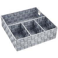 WENKO 21534100 Organizer Adria Grau - Badorganizer, 100% Polypropylen, 32 x 10 x 32 cm