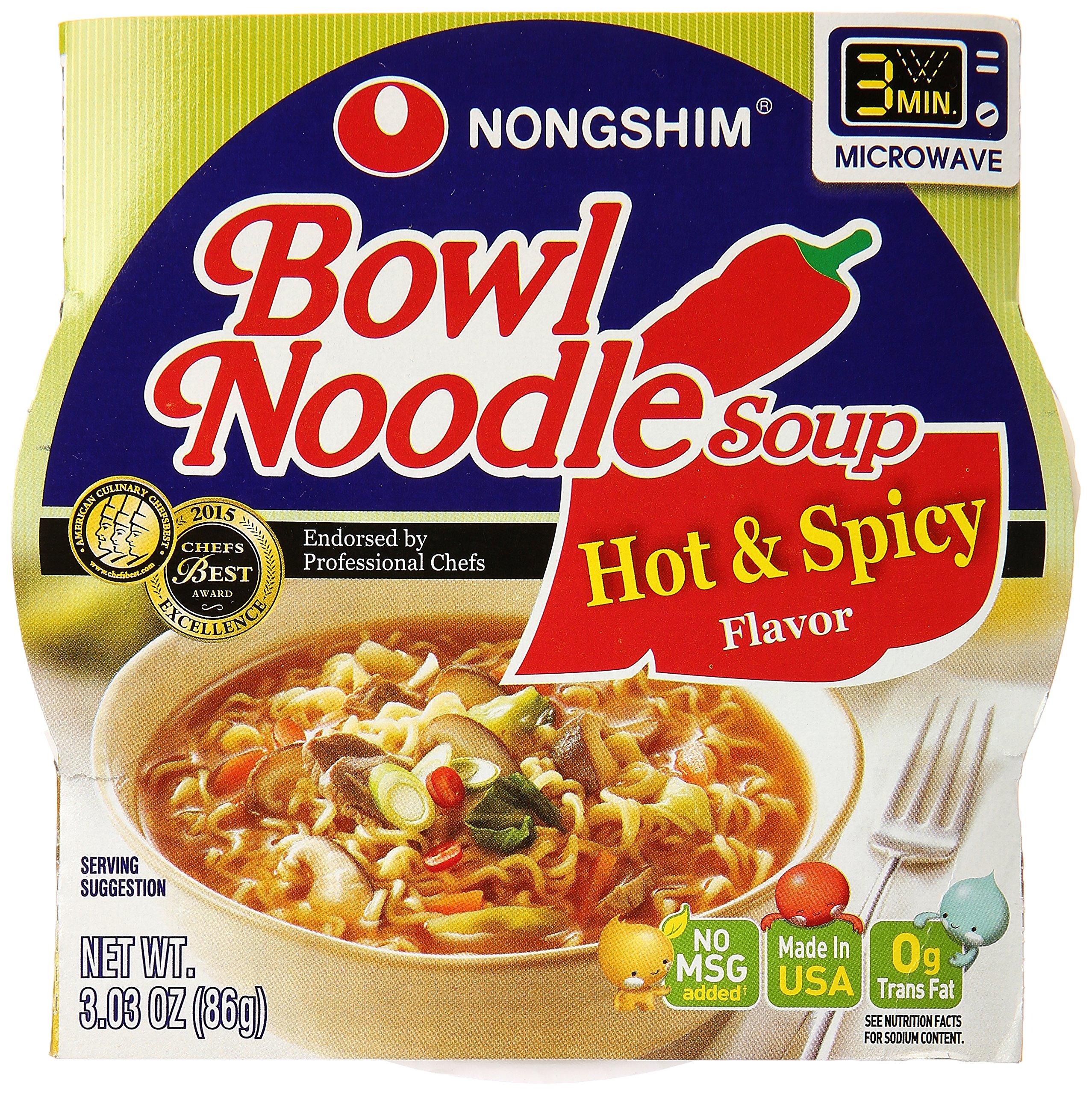 Nong Shim Bowl Noodle Soup, Spicy, 3.03 oz
