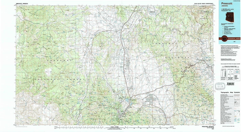 Amazon Com Yellowmaps Prescott Az Topo Map 1 100000 Scale 30 X
