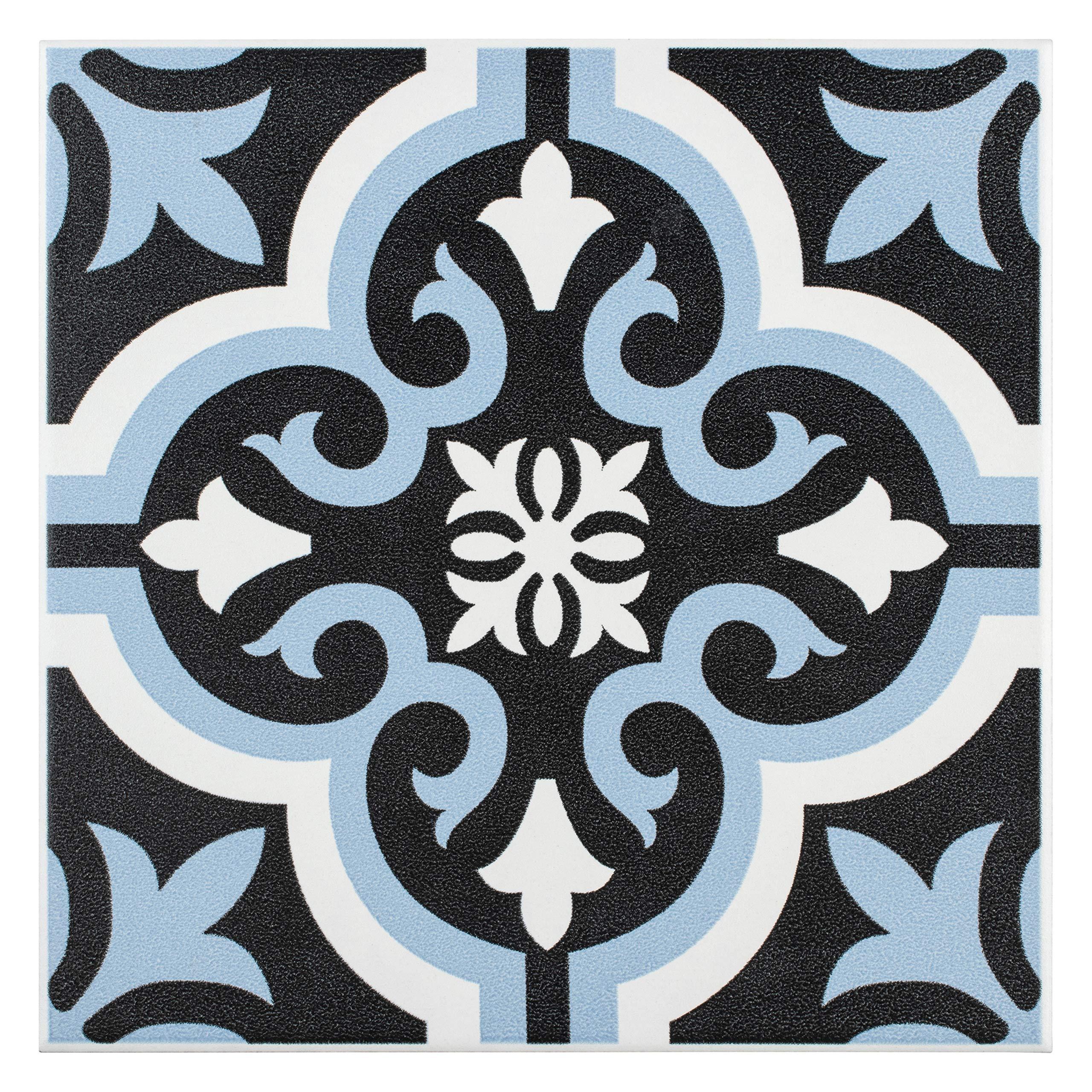 Blue And White Bathroom Floor Tile Amazon