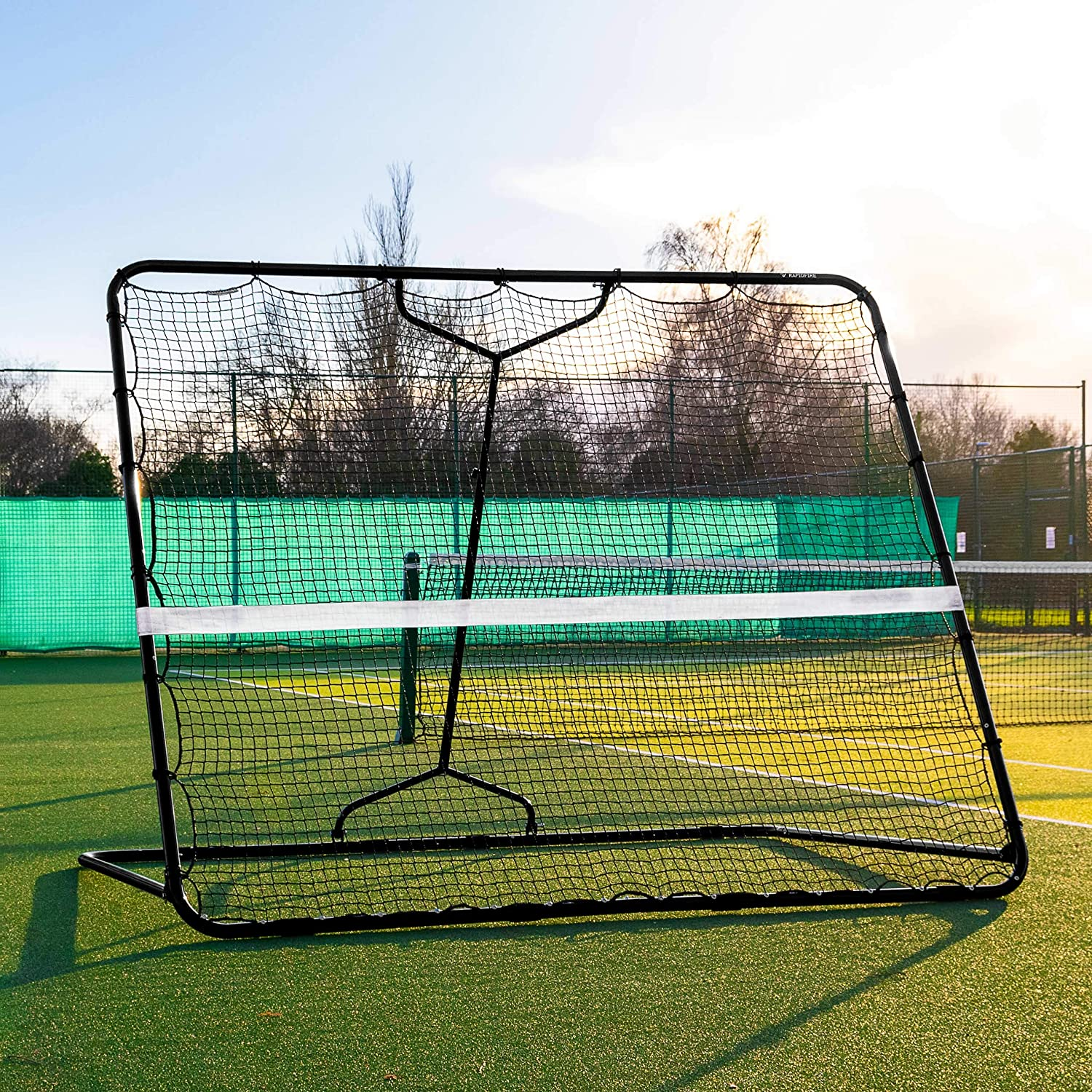 Net World Sports RapidFire Mega Tennis Rebounder | Groundstroke & Volleying Practice (Small Or Large) (Large (7ft x 8ft)) : Sports & Outdoors
