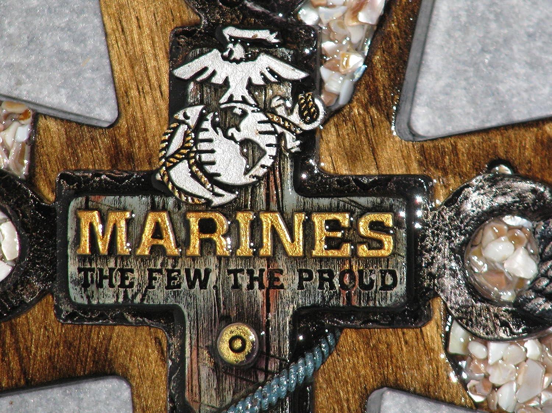 decorative cross, handmade cross, military cross, marine cross, one of a kind cross, home wall decor, military cross