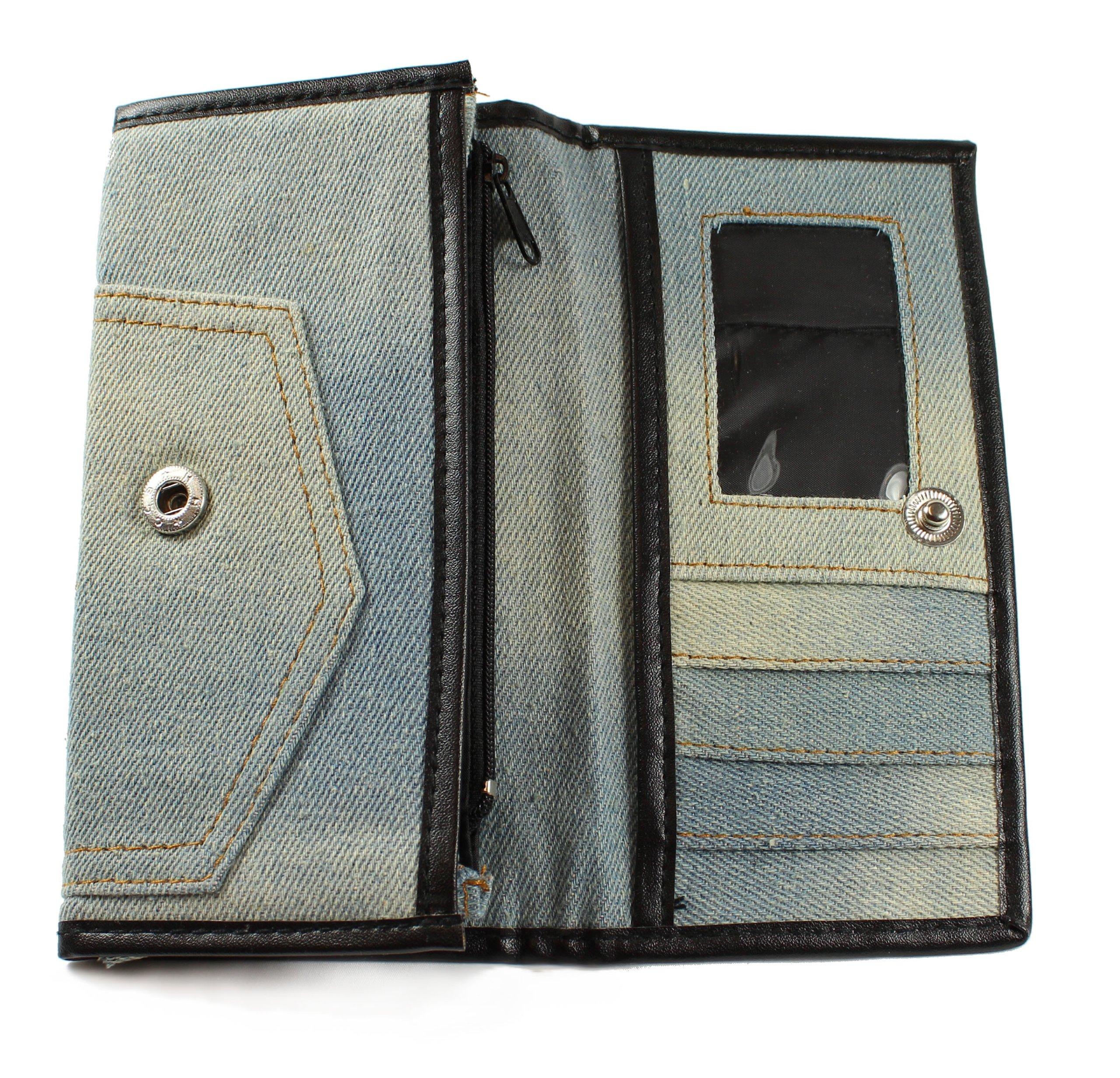 Genuine Denim Wallet Blue