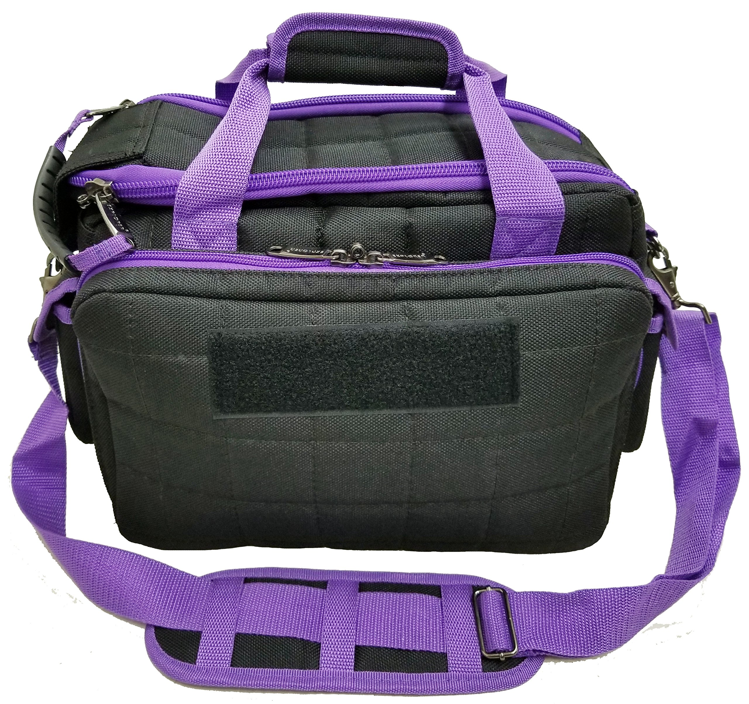 Explorere 8 Pistol Tactical Range Go Bag Assault Gear Range Bag Hiking Shoulder Strap EDC Camera Bag MOLLE Modular Deployment Compact Utility Military Surplus Gear by Explorer