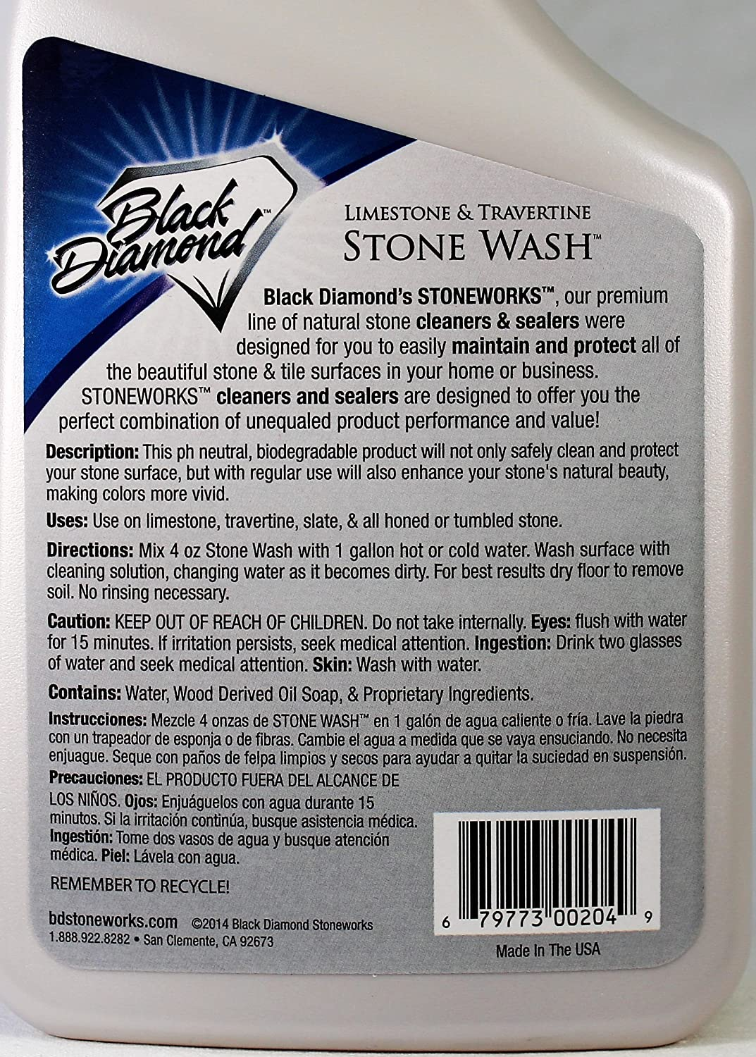 Amazon black diamond stone wash for cleaning limestone amazon black diamond stone wash for cleaning limestone travertine marble honed or tumbled natural stone floors concentrate set of 2 qts home dailygadgetfo Gallery