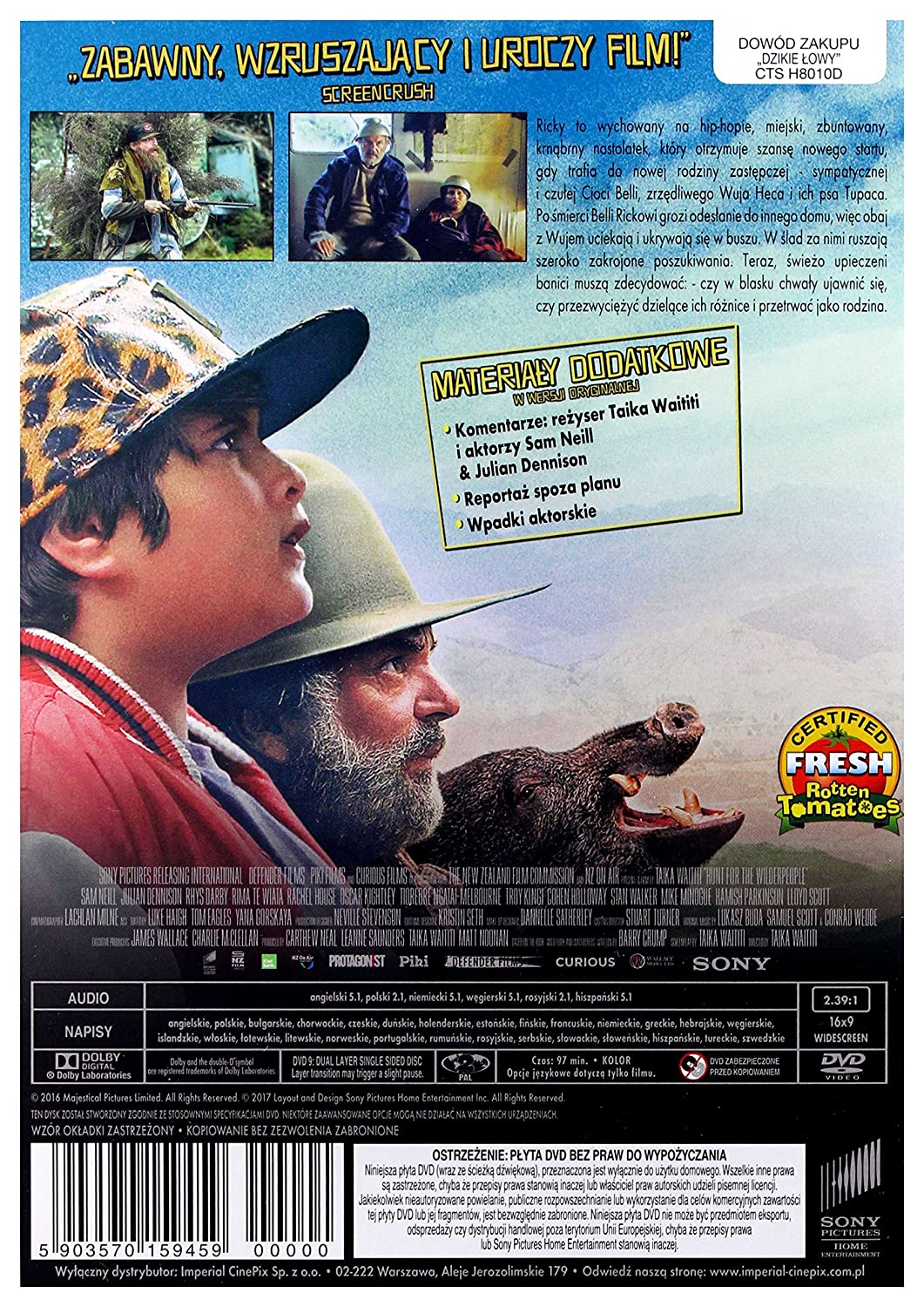 hunt for the wilderpeople subtitles