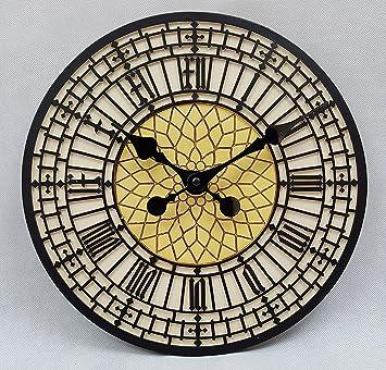 Big Ben Reloj Reloj RELOJ de pared al aire libre jardín interior pintado a mano 30