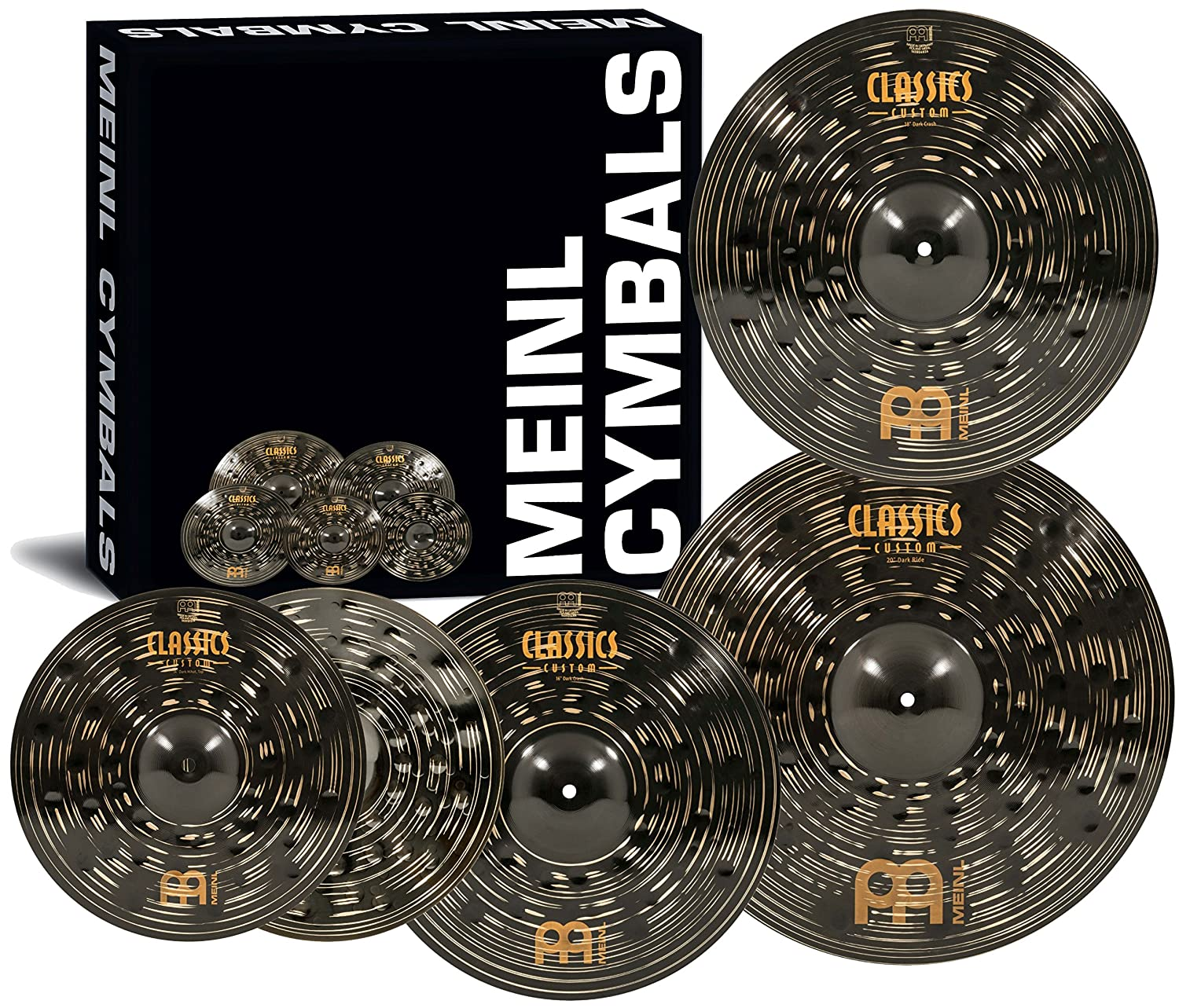 "Meinl Cymbals CCD460+18 Classics Custom Dark Pack Bonus Cymbal Box Set with FREE 18"" Dark Crash (VIDEO)"