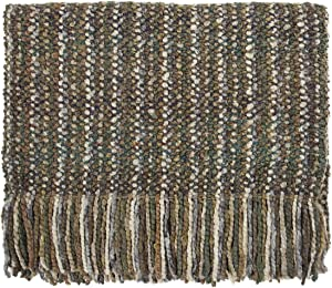 "Bedford Cottage, LLC Kennebunk Collections Stria 40"" x 70"" Throw, Stone"