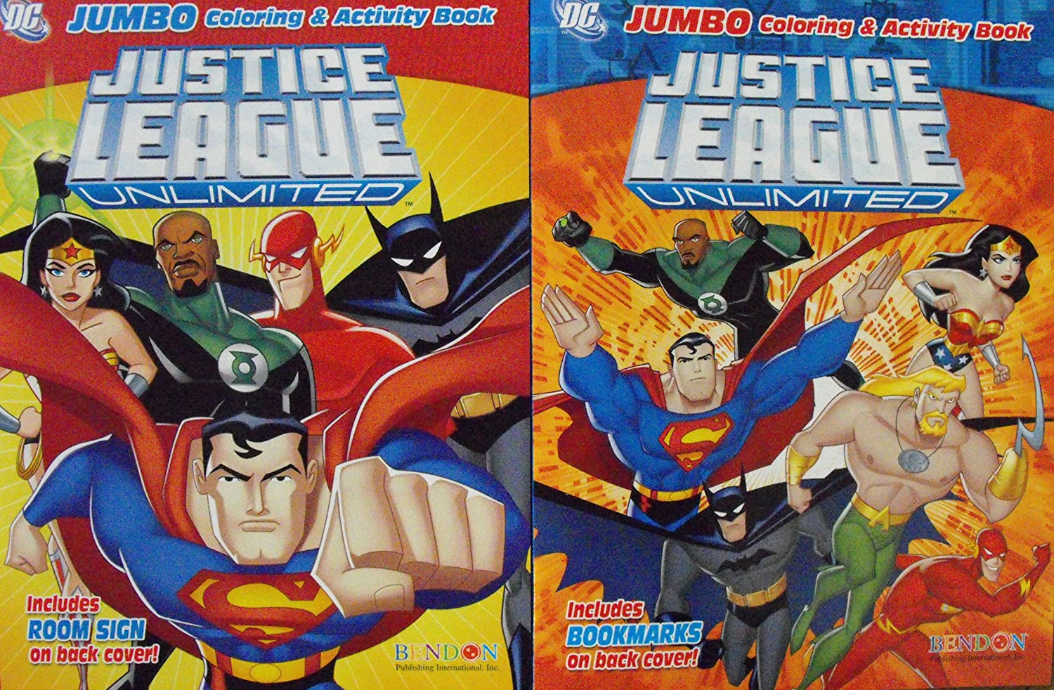 96 Pages Bendon Publishing International Justice League Unlimited Coloring Book