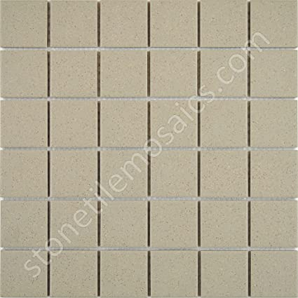 Beige Speckled Unglazed Porcelain Mosaic Square X Inch Porcelain - 2 x 2 inch ceramic tiles