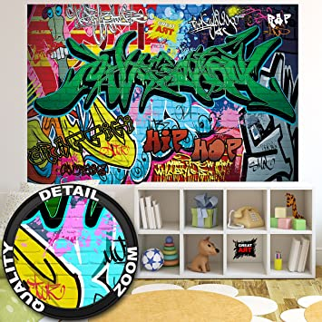 Great Art Fototapete Graffiti Wand 210 X 140 Cm 5 Teillige