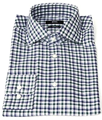4203d608 Amazon.com: Hugo Boss Mens Miles Boxed Sharp Fit Dress Shirt (14.5 ...