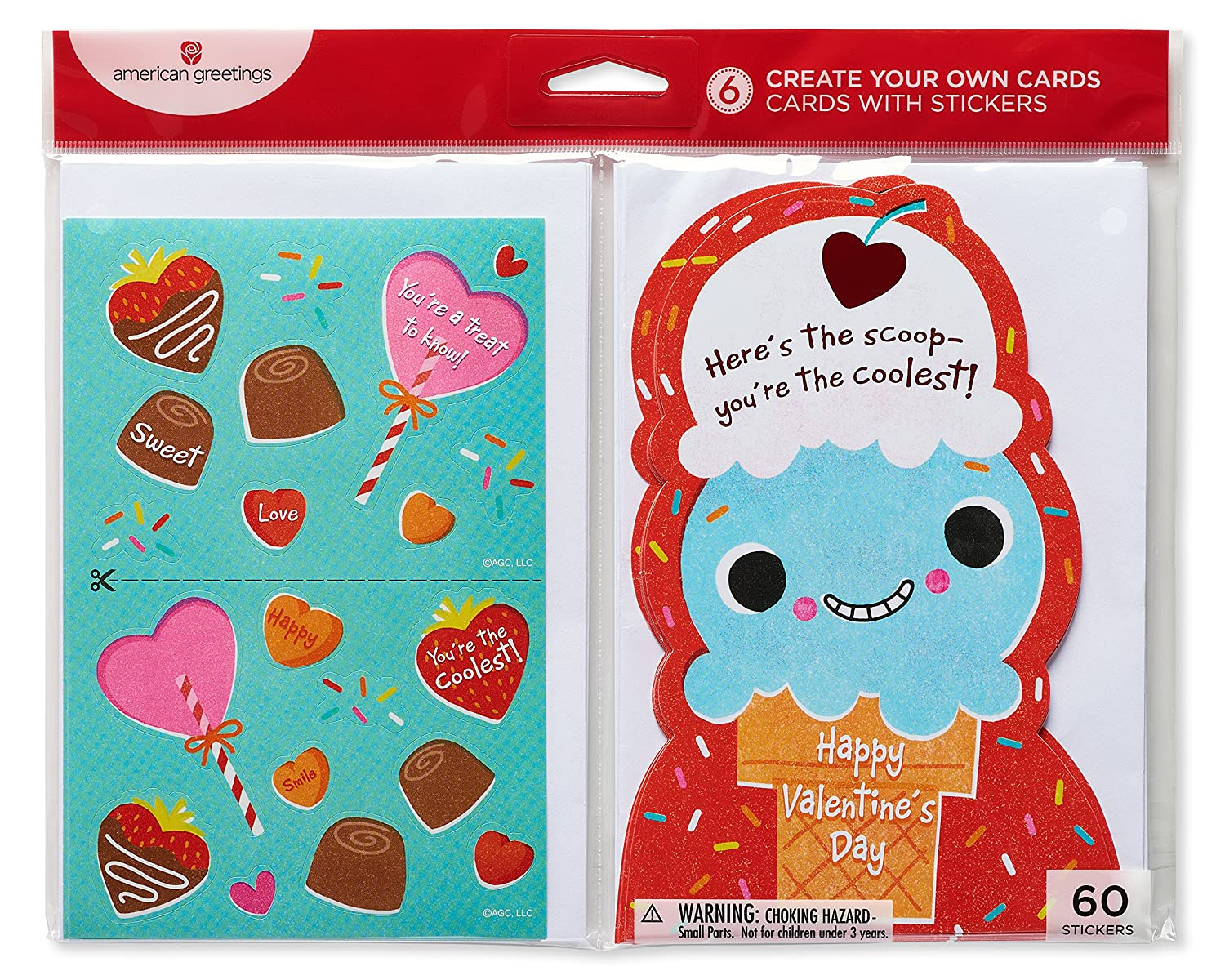 Amazon American Greetings Ice Cream Valentines Day Card With