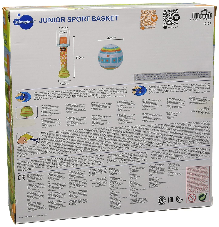 itsImagical Junior sport basket, canasta de baloncesto hinchable (Imaginarium 79989): Amazon.es: Juguetes y juegos