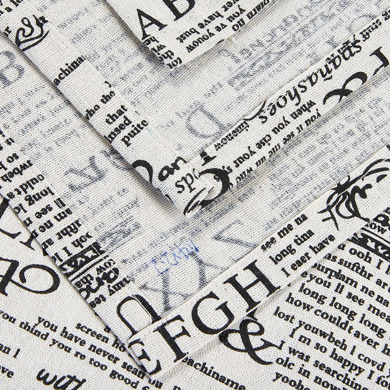 Alicemall Mantel Antimanchas Rectangular Vintage de Poliéster Retro Grano de Madera Manteles Mesa 140 x 220cm con Letras: Amazon.es: Hogar
