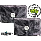 Prime Bands Anti Nausea Wristbands For Travel Sickness - Best Motion Sickness Bands For Adults And Children - Relieve Nausea Symptoms With These Acupressure Wristbands , Great For Morning Sickness Relief