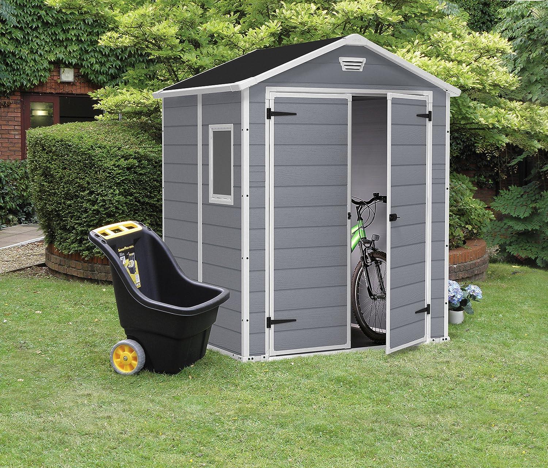 fahrradbox und fahrradgarage kunststoff infos preise. Black Bedroom Furniture Sets. Home Design Ideas