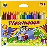 BIC Kids Plastidecor - Pack de 18 ceras para colorear