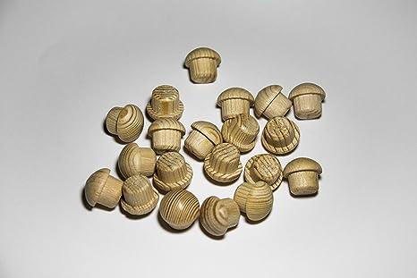 Pack de 20 tapones de madera Pino (Ø 15/20 mm con mecha)