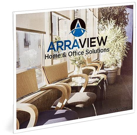 Card Holder & Note Holder Arylic Landscape Indoor Vertical Horizontal Wall Mounted Info Paper Tag Label Cover Sign Holder Case Door Signage Display Frame
