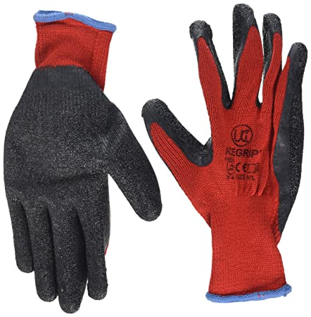 10 x UCI EC-Grip Multi Purpose DIY Gardening Builders Gloves Latex Palm Coated