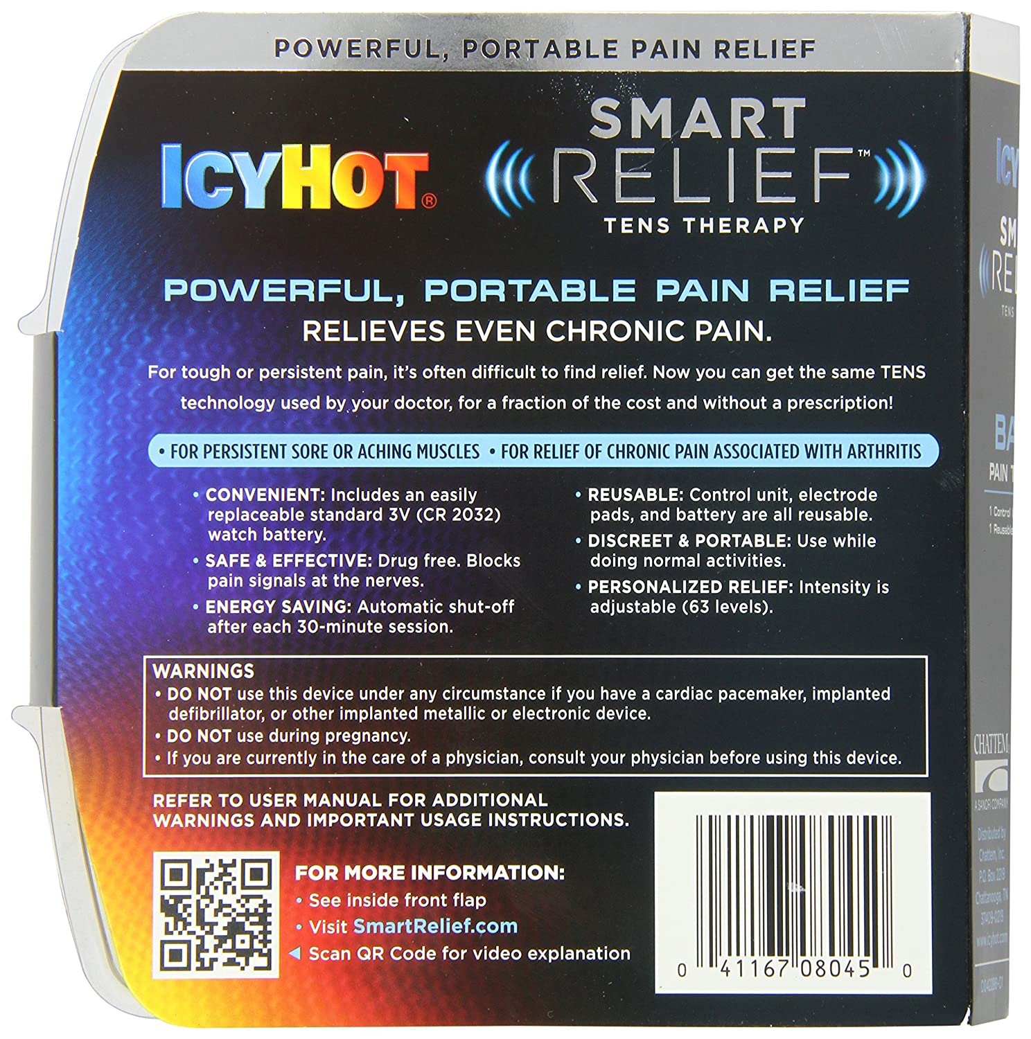 Amazon Icy Hot Smart Relief Tens Therapy Back And Hip Starter