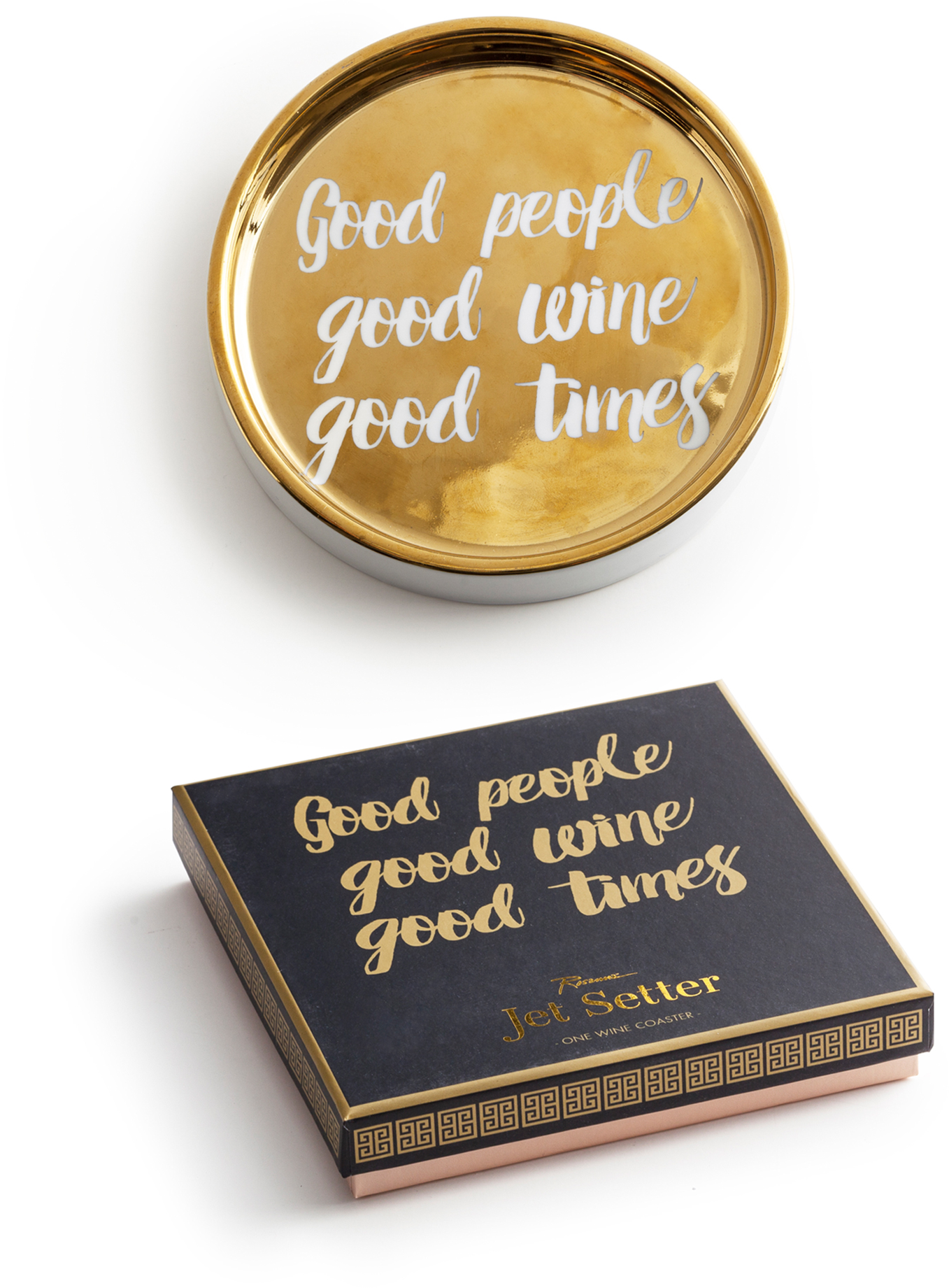 Rosanna Wine Coaster - Good People, Good Wine, Good Times