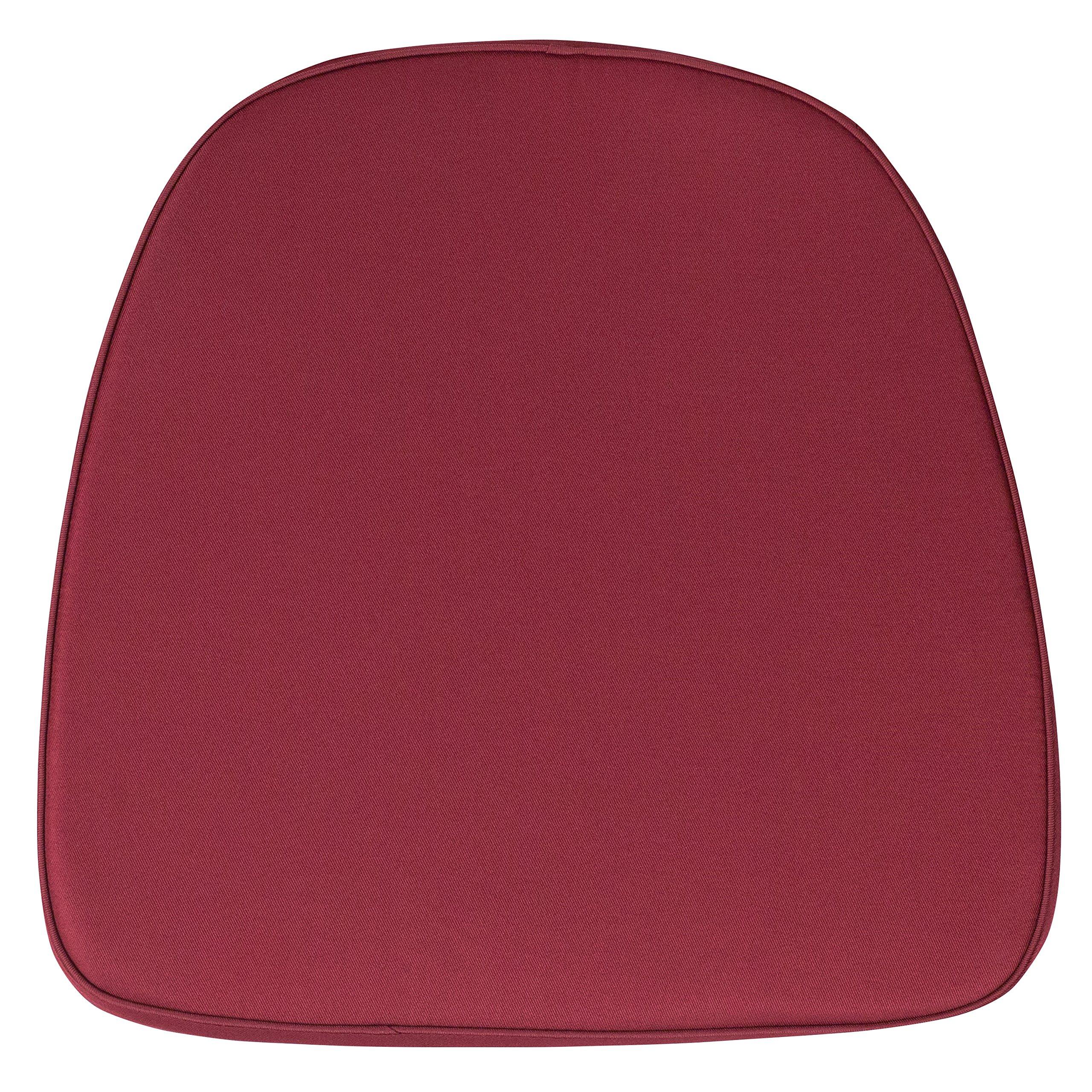Soft Burgundy Fabric Chiavari Chair Cushion