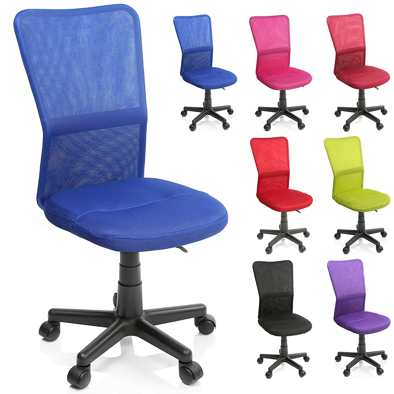TRESKO Silla de Oficina Escritorio giratoria, Disponible en 7 Variantes de Colores, con Ruedas para Suelos Duros, Regulable en Altura de Forma Continua, ...