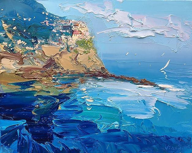 amazon com manarola cinque terre canvas italy wall art