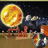 great-art Fototapete Sonnensystem Planeten Wandbild Dekoration Galaxie Cosmos Space Universum All Sky Sterne Galaxy Weltraum Earth   Foto-Tapete Wandtapete Fotoposter Wanddeko by (336 x 238 cm)