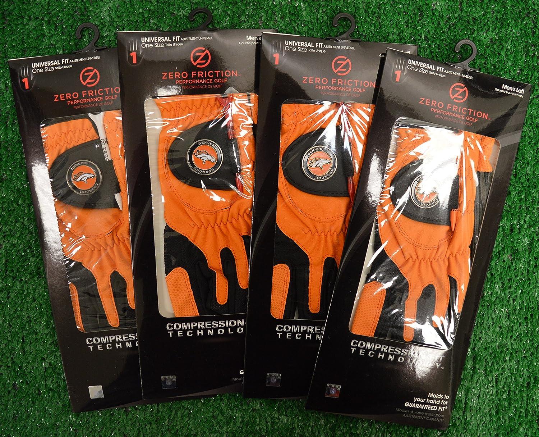 4ゼロ摩擦メンズLeft Handユニバーサルゴルフグローブ – Denver Broncos – オレンジ   B077VX3B3J