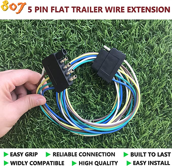 3-Way Flat 3 Way Flat 2/3/4/5/6/8 Way Trailer Wire Extension 36inchs for  LED Brake Tailgate Light Bars,Hitch Light Trailer Wiring Harness Extension  Connector 807 2/3/4/5/6/8 pin Trailer ConnectorFusco Realty Group