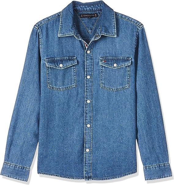 Tommy Hilfiger Boys Basic Shirt Bmr Blusa para Niños: Amazon.es: Ropa y accesorios