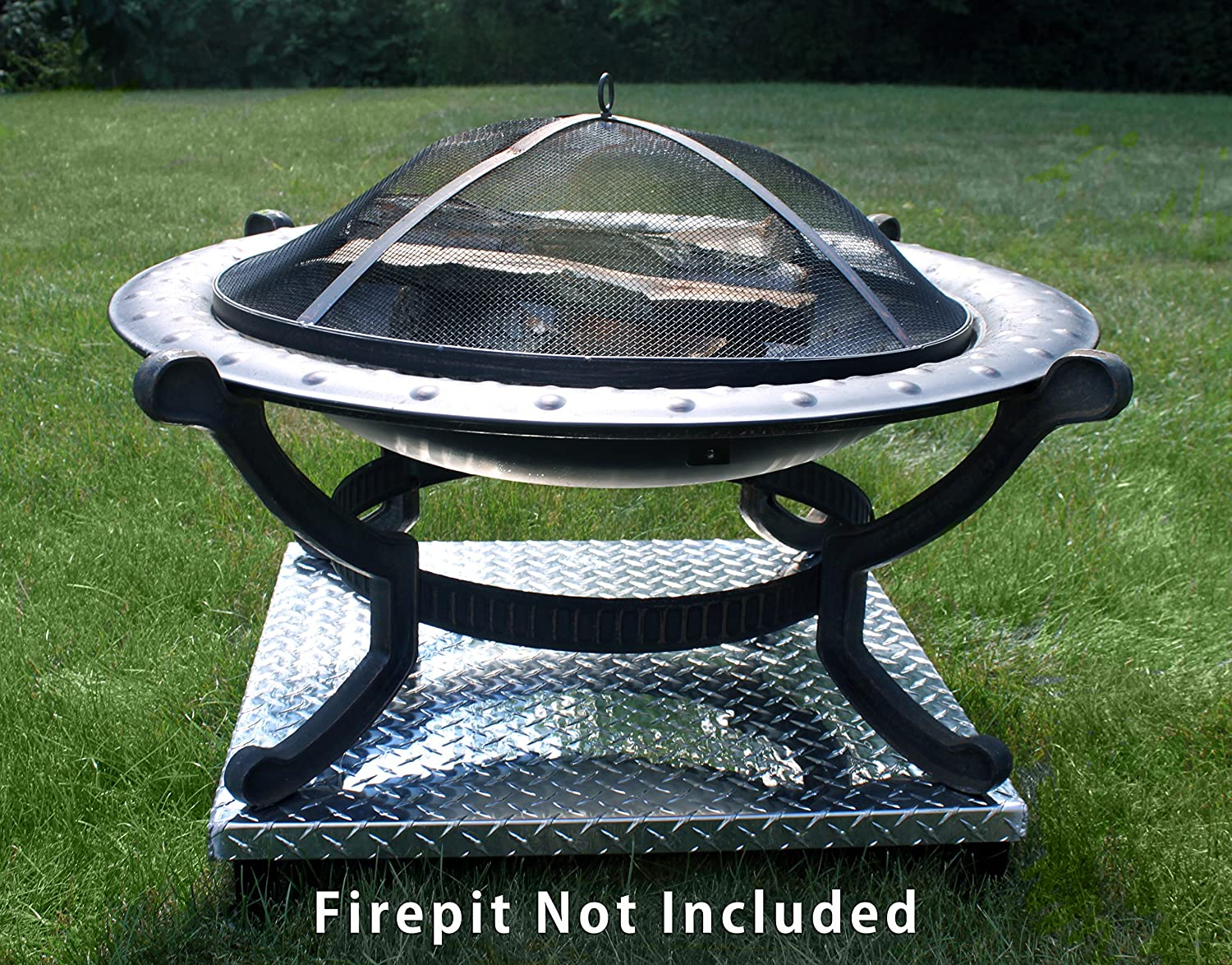 Deck Defender & Grass Guard - Fire Pit Heat Shield