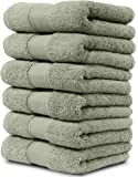 6 Piece Hand Towel Set. 2017(New Collection). Premium Quality Turkish Towels. Super Soft, Plush and Highly Absorbent. Set Includes 6 Pieces of Hand Towels. By Maura (Hand Towel - Set of 6, Sage Green)