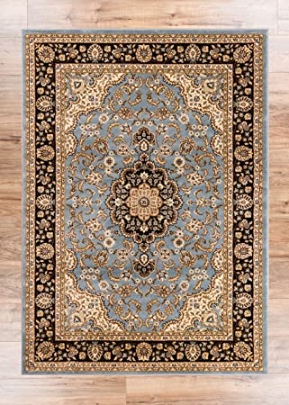 Noble Medallion Light Blue Persian Floral Oriental Formal Traditional Area Rug 7x10 67quot