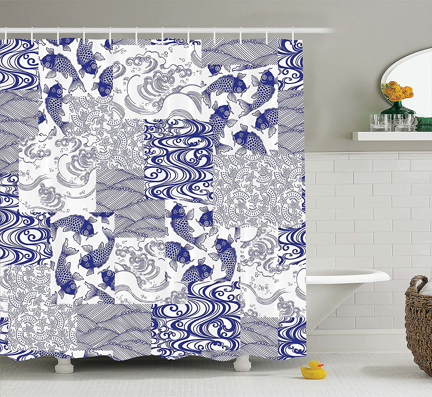 Amazon.com: Ambesonne Japanese Decor Collection, Traditional Chinese ...