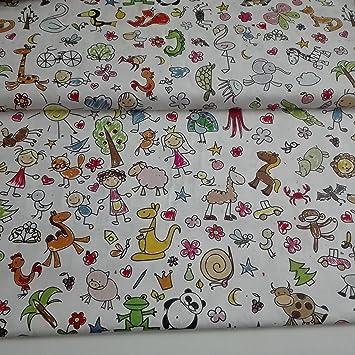 Tela de Algodón con dibujos infantiles|100% algodón | 50cm de largo por 150cm